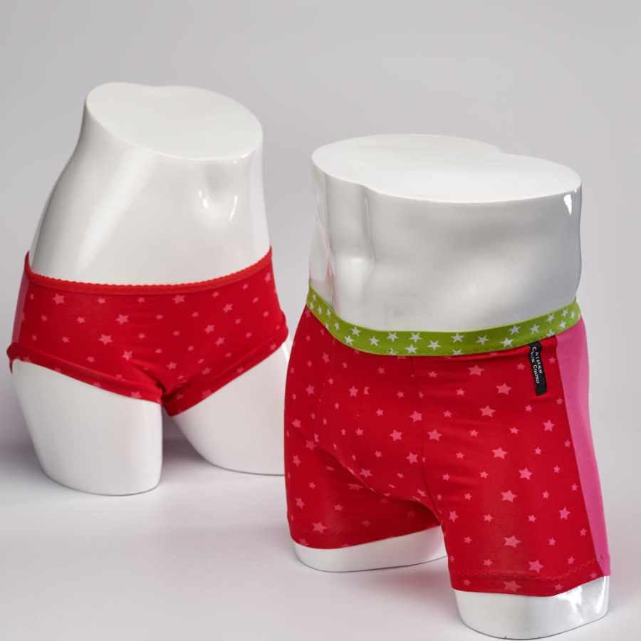 Culotte et Boxer étoiles roses
