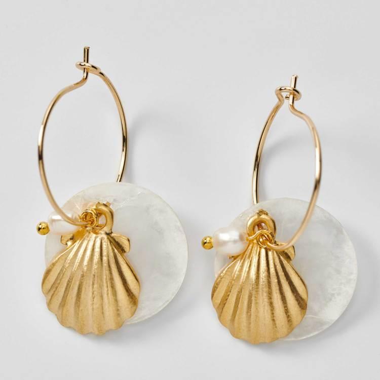 Boucles d'oreilles créoles saint jacques