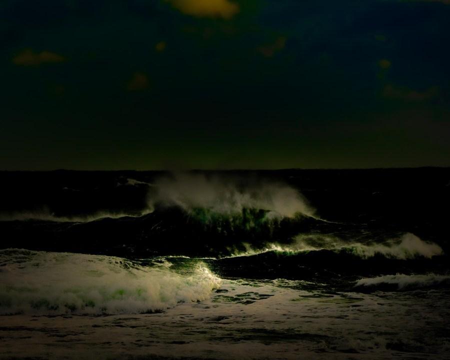 photographie Hocine Saad / Les vagues émeraude 2