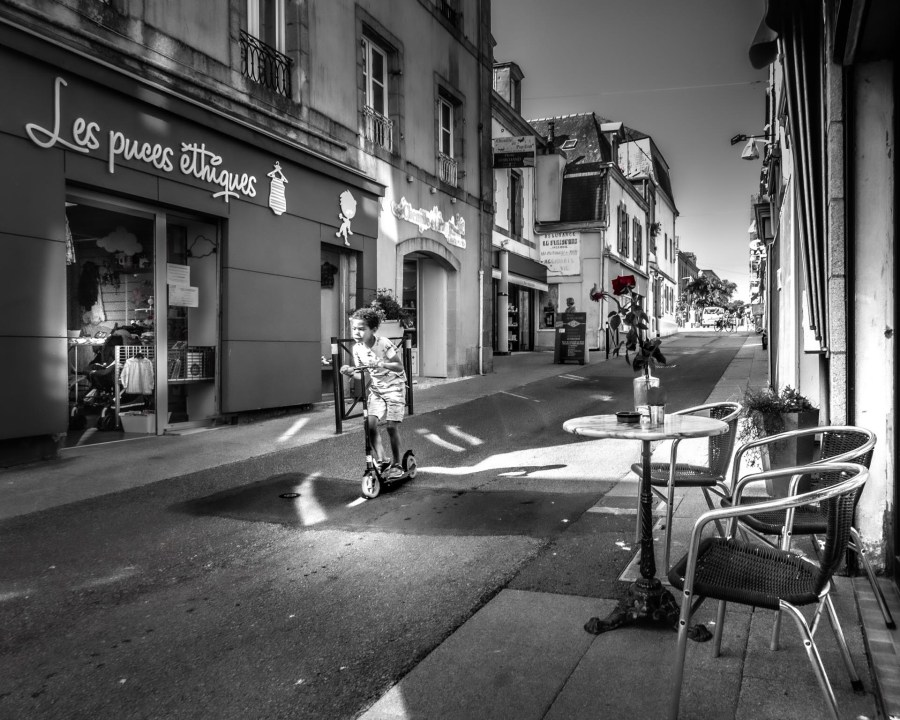 photographie Hocine Saad / Douarnenez/ rue Voltaire