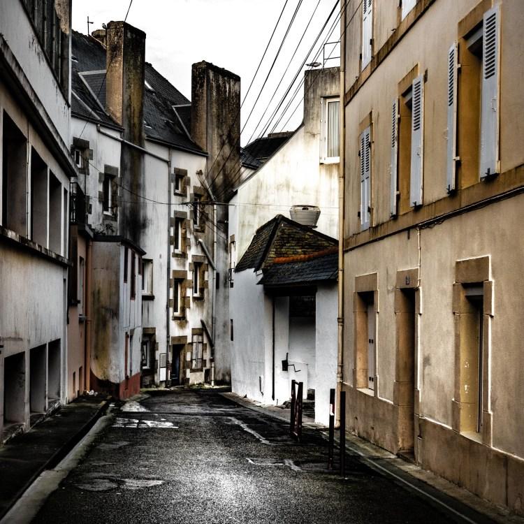 photographie Hocine Saad / Douarnenez/ Ruelle/format carré