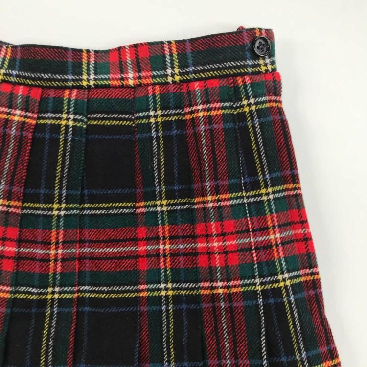 Jupe écossaise en laine
