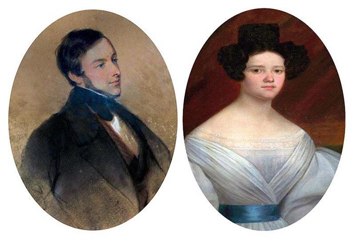 Alexis de Gourgue et Augusta Philippine de Prunelé, son épouse.