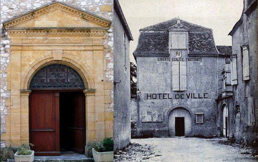 L'hôtel de ville de Monpazier quant il occupait l'ancien couvent des Récollets. C'est aujourd'hui l'entrée du Bastideum. Coll. J. Tronel.