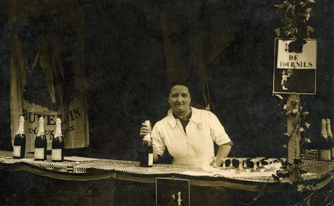 Augusta Barjou, ouvrière dans les carrières de Couze, là où se faisait la champagnisation