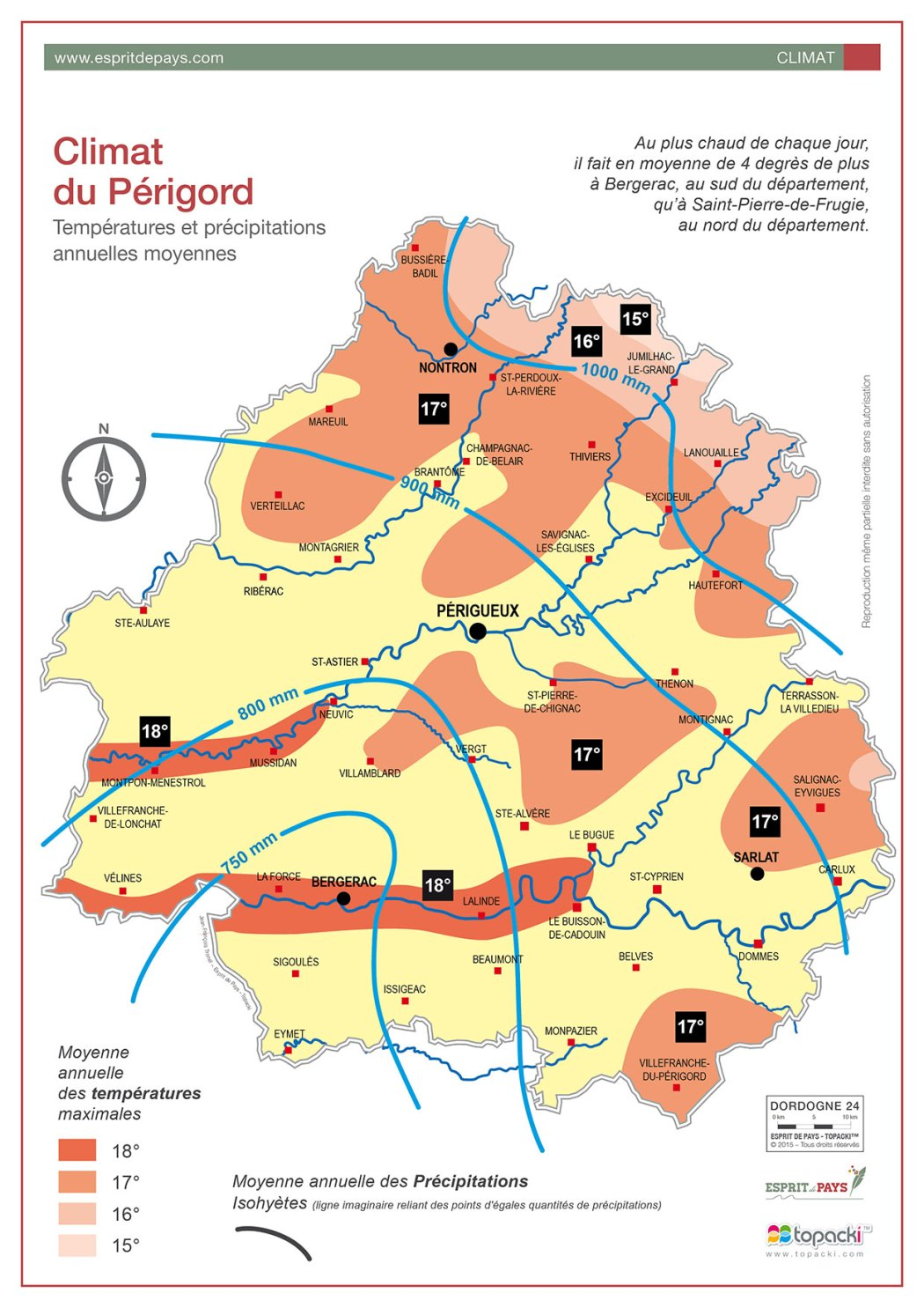 Le climat de Dordogne-Périgord