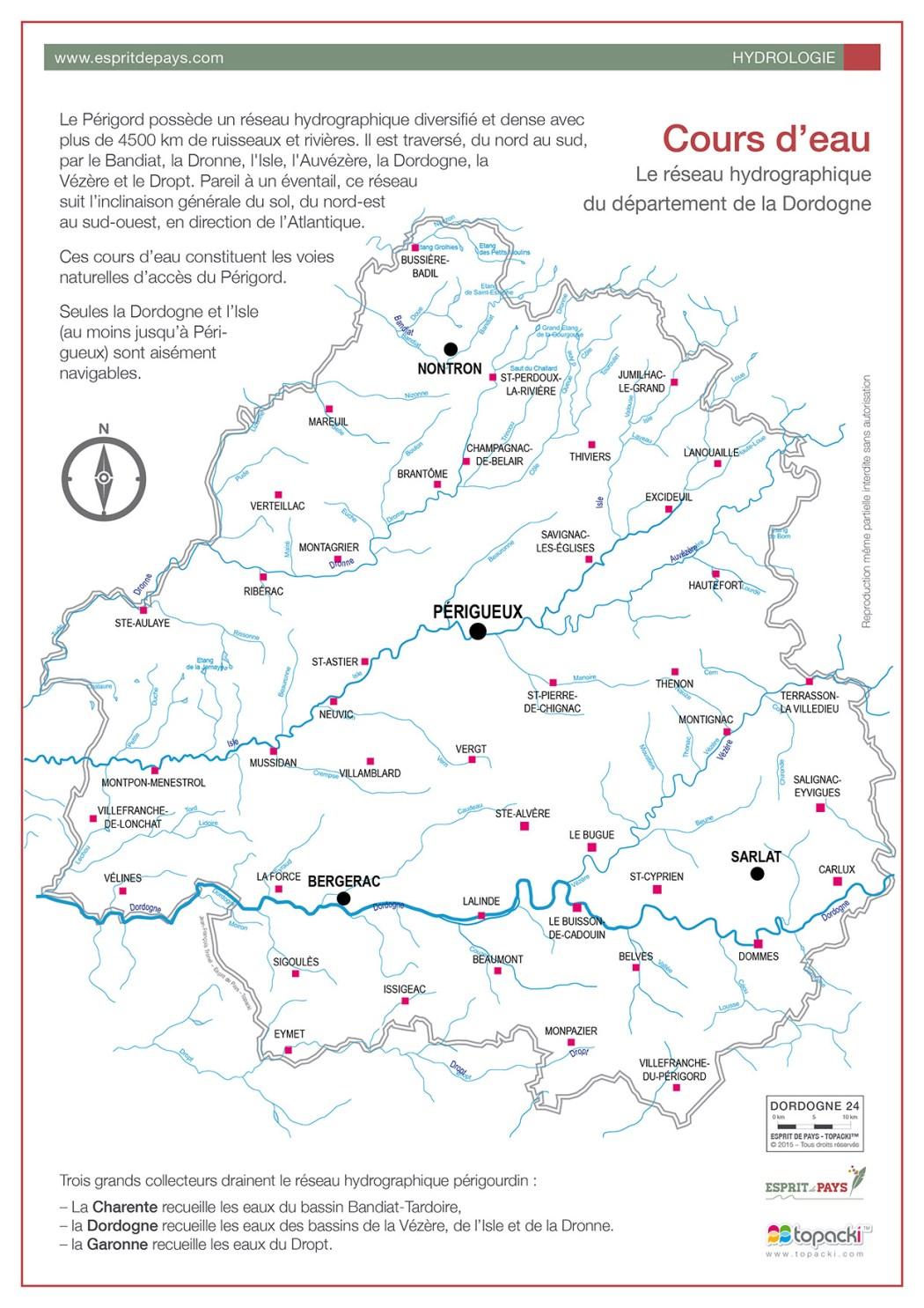 L'Hydrologie du département de la Dordogne-Périgord