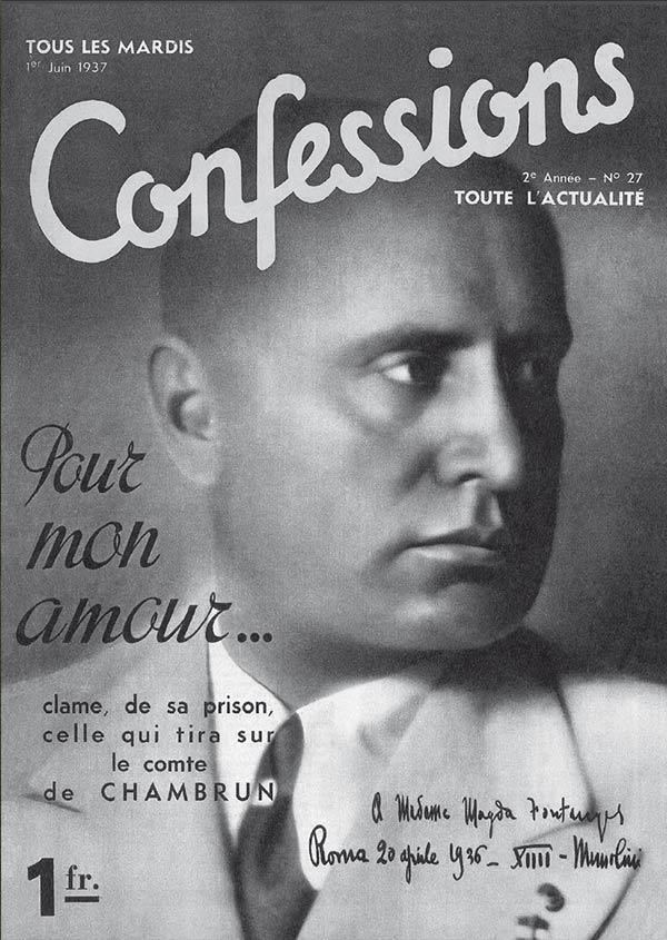 Un article de la revue Confessions consacré à Magda Fontanges, celle qui tira sur le Duc Chambrun
