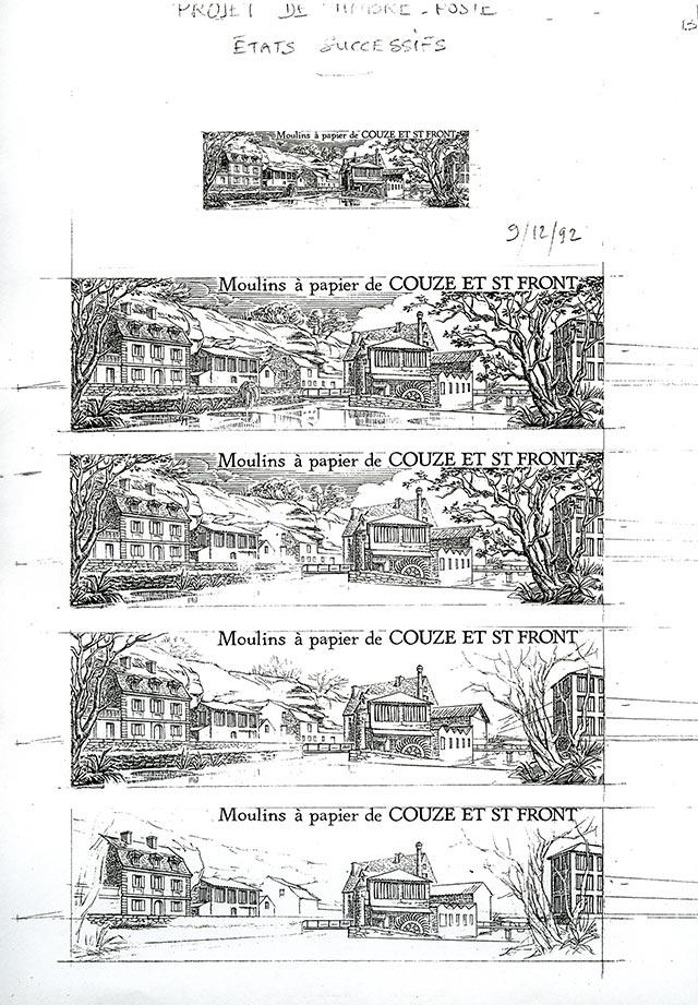 Gérard Martial, projet timbre-poste étape par étape