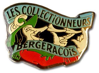 Pins du Club Les Collectionneurs Bergeracois dessiné par Gérard Martial