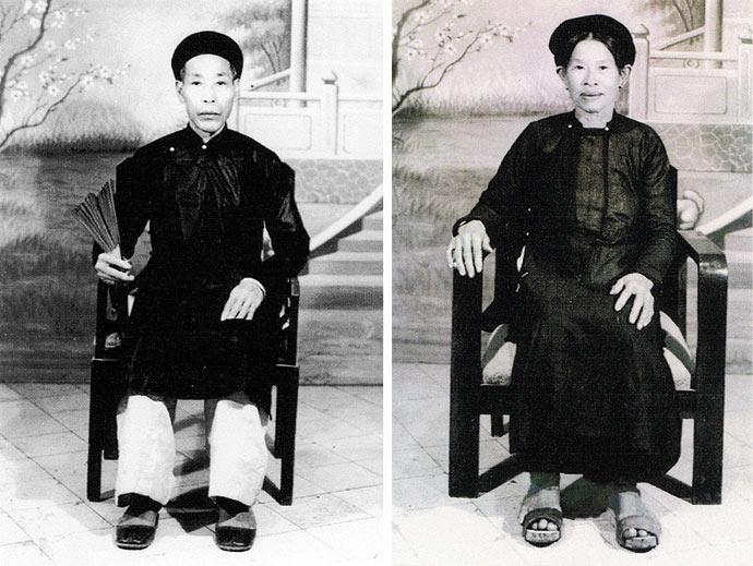 La mère et le père de Bernard Vu Quang Huy