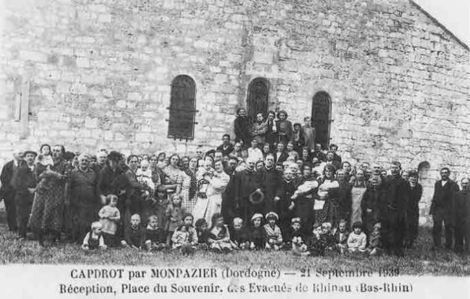 Réfugiés alsaciens de Rhinau (Bas-Rhin) à Capdrot Monpazier (Dordogne)