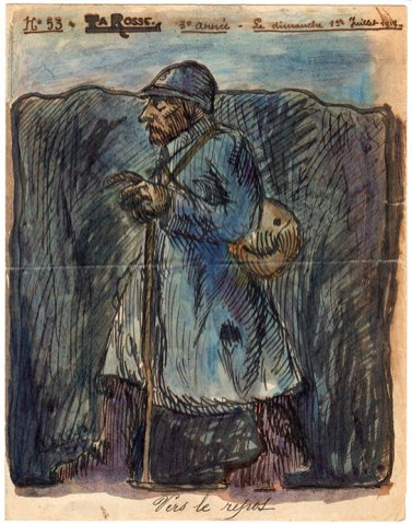 La couverture du numéro 53 de « La Rosse», journal de poilus de la Grande Guerre