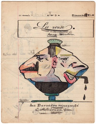La couverture du numéro 9 de « La Rosse», journal de poilus de la Grande Guerre