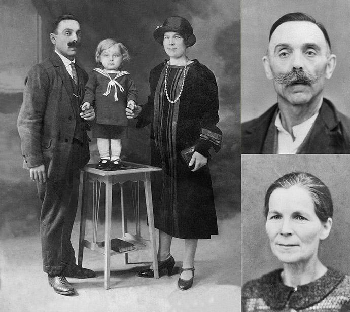 Marcella Mygdalska et Jean Wrobel, émigrés russes