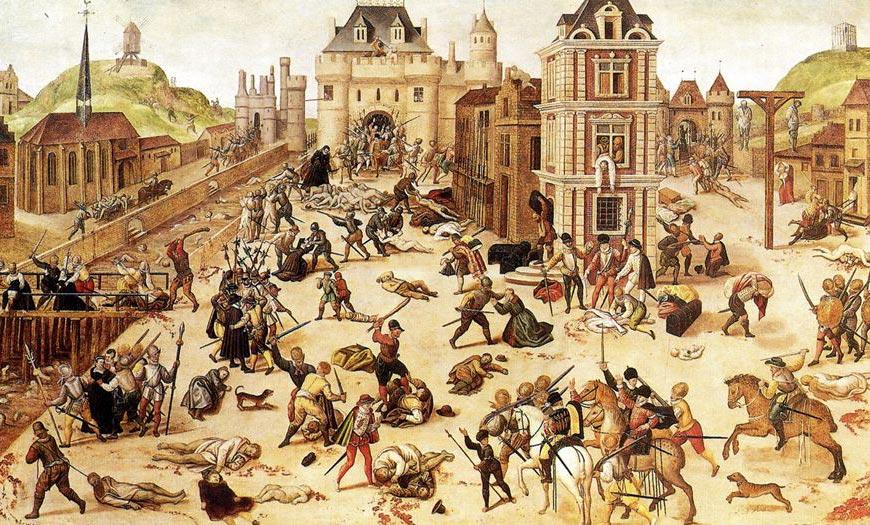 Le massacre de la Saint-Barthélemy (1572) par François Dubois, peintre protestant