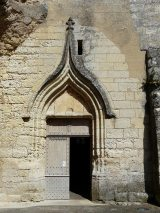 Le portail ouest de l'église Saint-Pierre et Saint-Paul, Sourzac