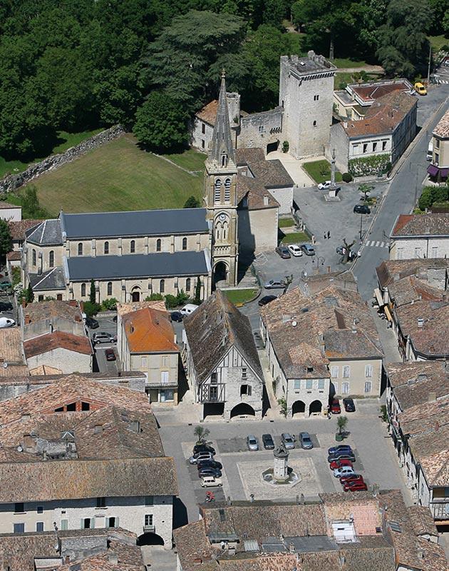 Eymet, vue aérienne © Photo Jean-Jacques Saubi