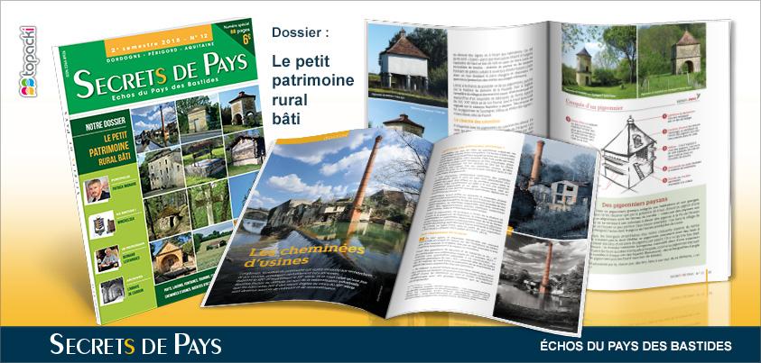 Le numéro 12 de «Secrets de Pays» et son dossier thématique «Places de Villages»…