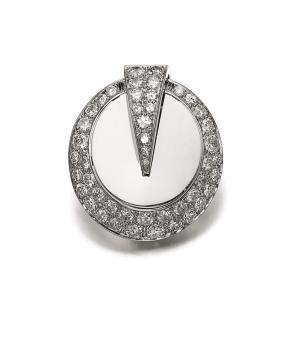 Clip RENÉ BOIVIN en diamants 1930 Crédit Sotheby's