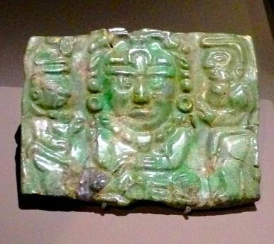 Pectoral en Jade Yucatàn,Chichén Itzà 600-900 apr.J.-C.