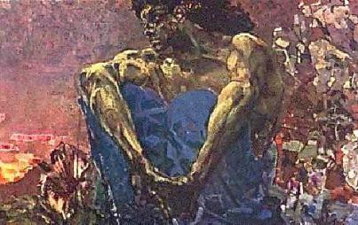 """MIkhaïl Vroubel """"démon"""""""