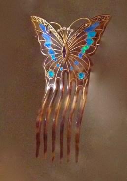 """Peigne""""Papillon"""" Écaille, Opales, Améthyste et diamants. 1899 Georges Fouquet"""