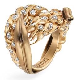 Bague Épi de Blé Or satiné, Or brossé, Diamants © Chaumet