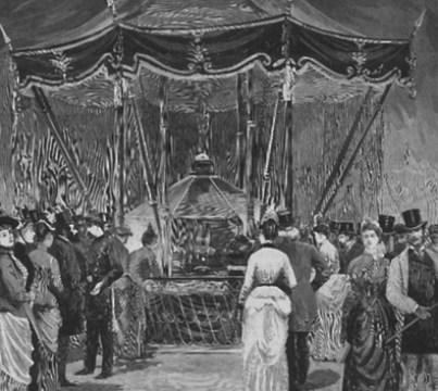 """L'Univers illustré du 16 avril 1887 """" L'exposition publique des joyaux de la Couronne de France"""""""