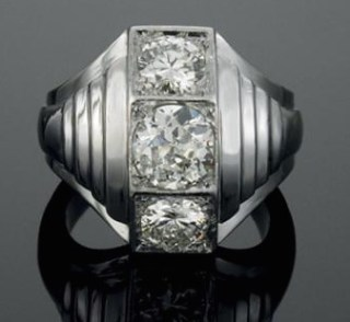 Bague Vintage Diamants, Platine Suzanne Belperron
