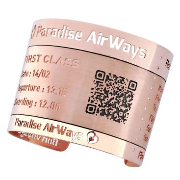 "Patrice Fabre ""Boarding Pass"" Manchette Or Rose. ©MCM"