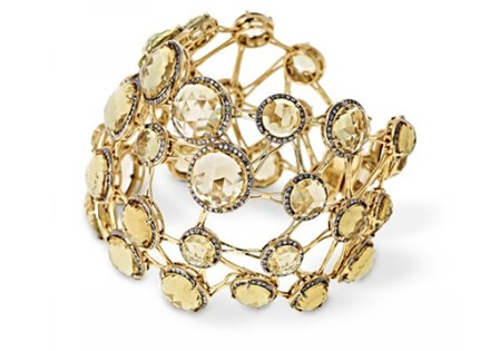 Bracelet Transparence Diamants, Citrines, Or