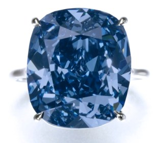 "Bague Diamant Bleu ""Blue Moon Diamond"" 12,03 carats"