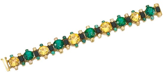 Tiffany & Co. Bracelet Topazes, Tourmalines, Onyx, Or