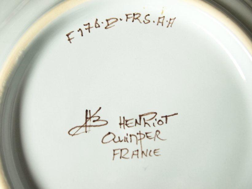 signature et marque Henriot Quimper