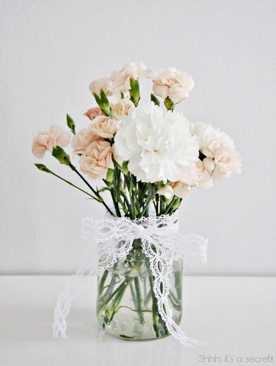 Bouquet de fleurs pâles
