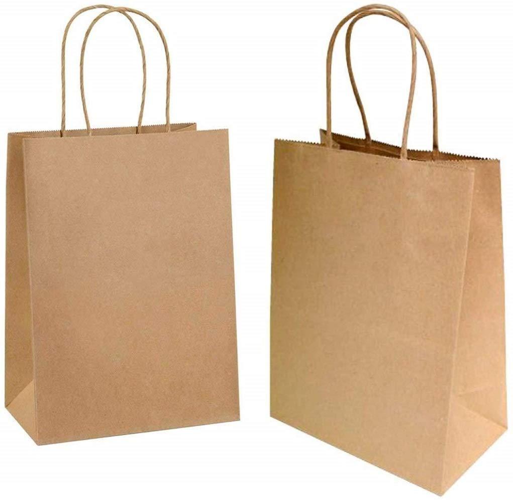Sac kraft,Sac en Papier Kraft avec Poignée,Sac Papier Cadeau,Papier Cadeau Recyclable,Sachet Papier pour Anniversaire Mariage.