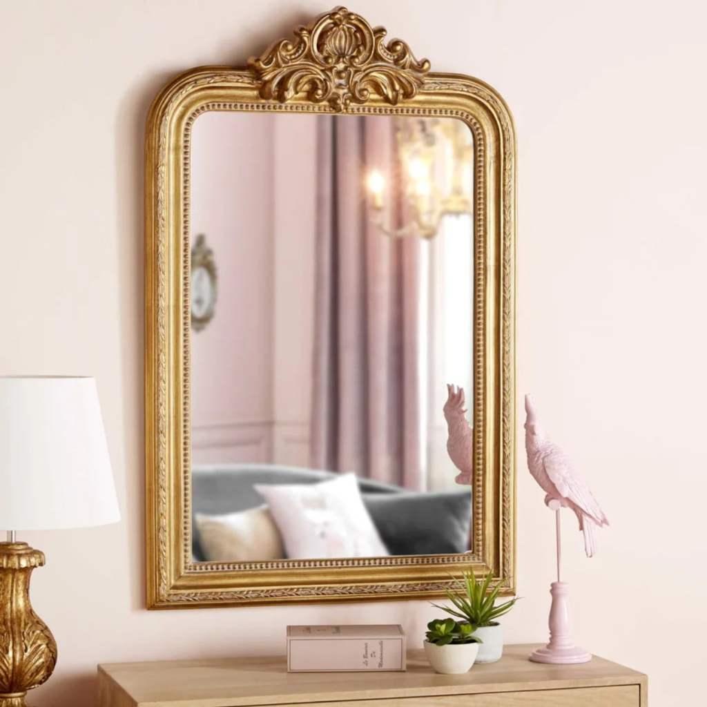miroir moulures doré