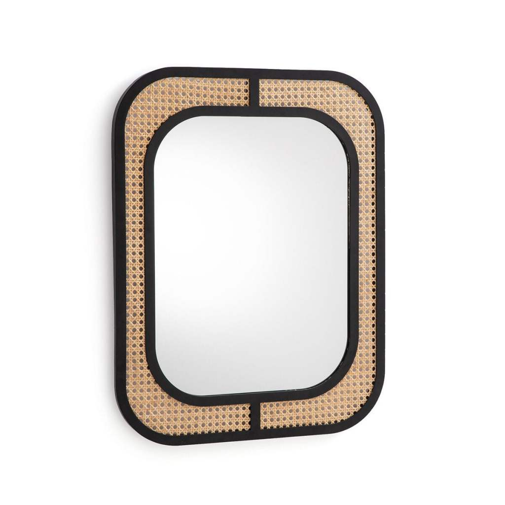 Miroir cannage et métal