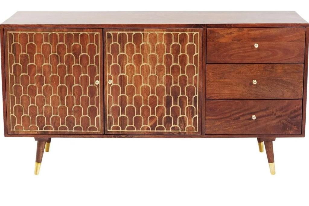 aparador baixo para sala de estar escandinava ou estilo vintage art déco