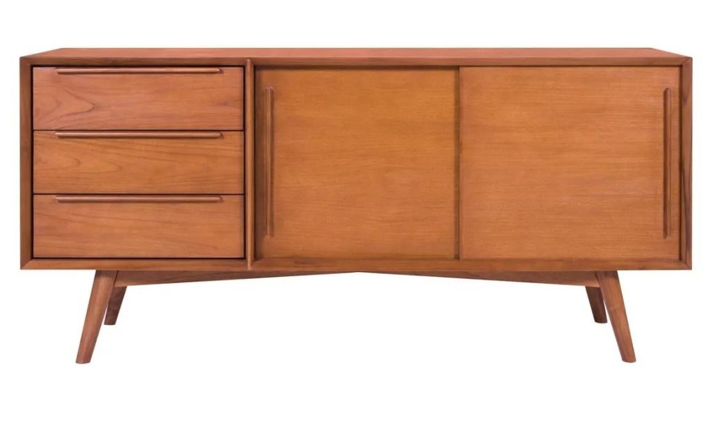 aparador baixo para sala de estar estilo vintage escandinavo