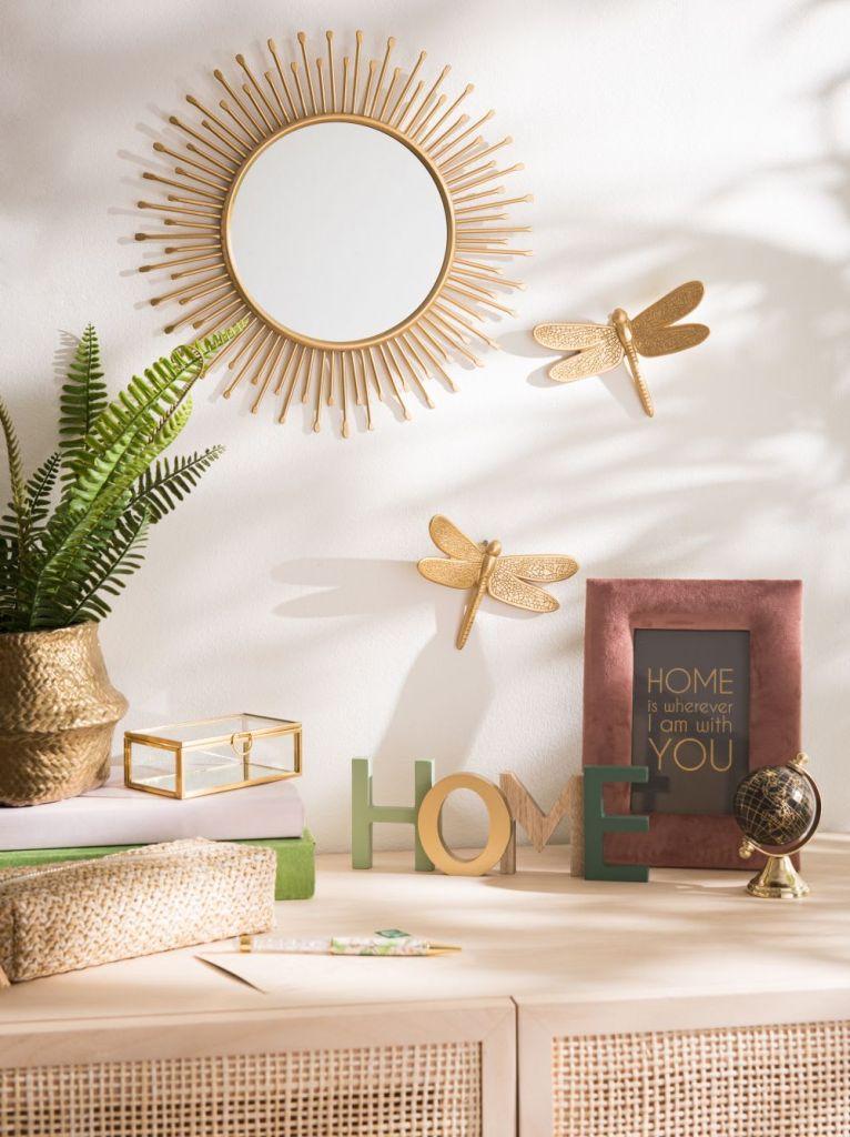 Libellules dorées - Décoration murale