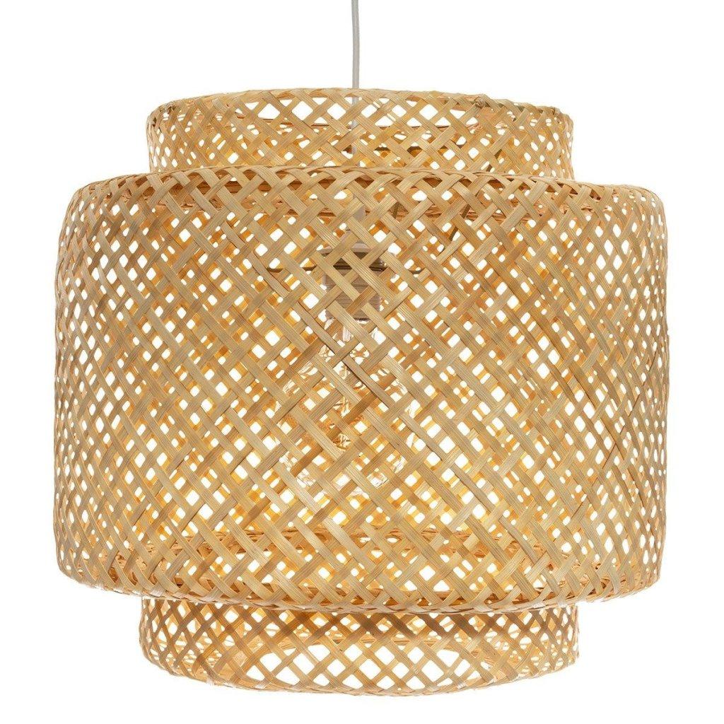Luminária pendente de rattan estilo escandinavo