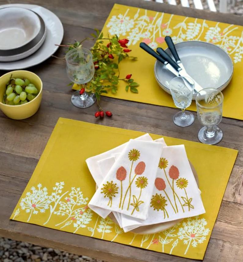 Set de table jaunes