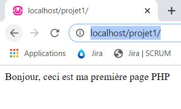 Affichage de ta première page PHP dans ton naviguateur