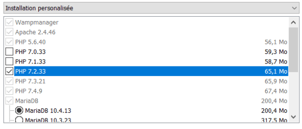 Ajouter une version de PHP à WAMP