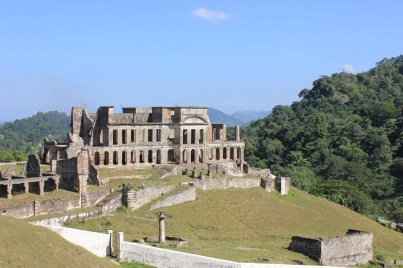 Coming back down the mountain, San Souci Palace awaited