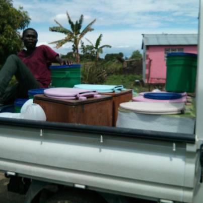 The in-country SOIL team making deliveries