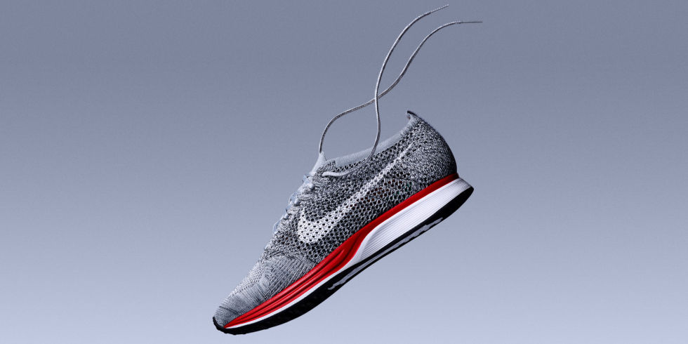 We still think the Flyknit Racer is the perfect sneaker for any office worker looking to push the boundaries a little bit (at least on Casual Fridays). This Wolf Gray colorway features a heathered knit upper on top of a bright red midsole, making for a shoe that's both sophisticated and exciting. Plus, we always love a contrast sole.Release: 2/24$150, nike.com