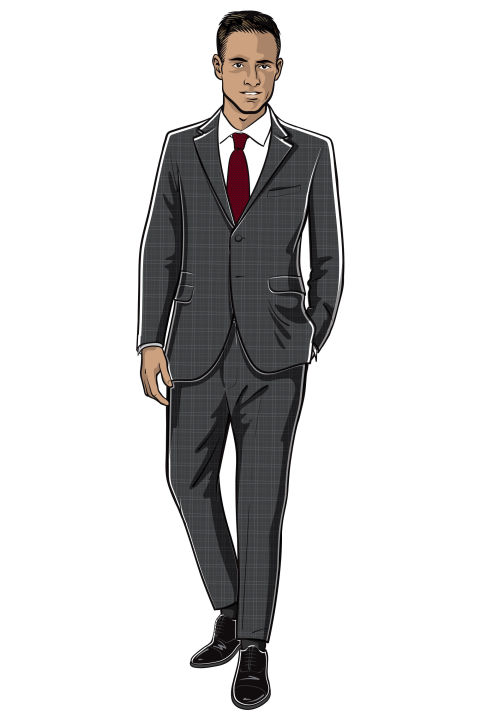 You'll want a strong professional look for big meetings with clients, and fortunately, professional doesn't mean completely devoid of personality. Rather than a basic gray or navy suit, try a subtle check pattern. Then round it off with those business-wear classics—a crisp white dress shirt, a textured tie, and a pair of black cap-toe oxfords. Prince of Wales-checked notch-lapel wool suit ($3,050) by Valentino, matchesfashion.com; modern fit cotton poplin dress shirt ($295) by Burberry, us.burberry.com; 8cm slub wool, silk, and linen-blend tie ($185) by Drake's, mrporter.com; Park Avenue cap-toe Oxfords ($395) by Allen Edmonds, allenedmons.com Please drink responsibly. Jim Beam Black® Kentucky Straight Bourbon Whiskey, 43% Alc./Vol. ©2017 James B. Beam Distilling Co., Clermont, KY. Jim Beam Black® is a registered trademark of Jim Beam Brands Co. and is used with permission.